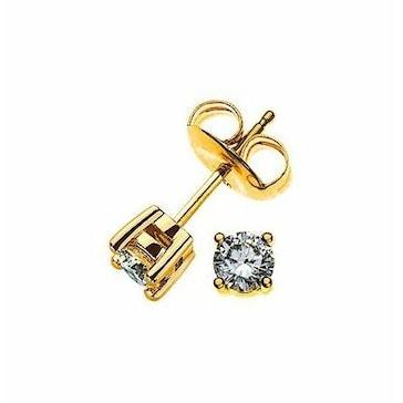 Ohrstecker 750/18 K Gelbgold mit Diamant 0.25ct H/Si OSO1004