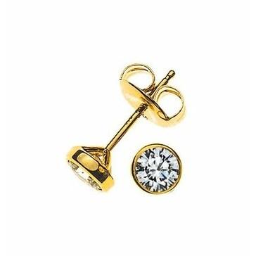 Ohrstecker 750/18 K Gelbgold mit Diamant 0.25ct H/Si OSO1012