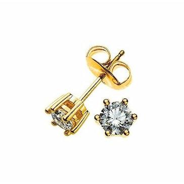 Ohrstecker 750/18 K Gelbgold mit Diamant 0.33ct H/Si