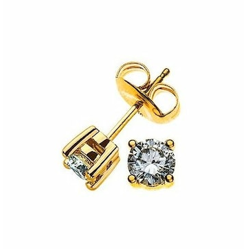 Ohrstecker 750/18 K Gelbgold mit Diamant 0.50ct H/Si OSO1006