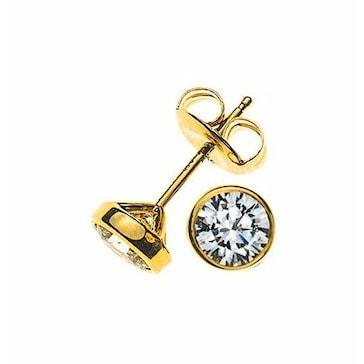 Ohrstecker 750/18 K Gelbgold mit Diamant 1.00ct H/Si