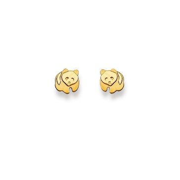 Ohrstecker 750/18 K Gelbgold, Pandabär