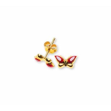 Ohrstecker 750/18 K Gelbgold, Schmetterling OGO1016