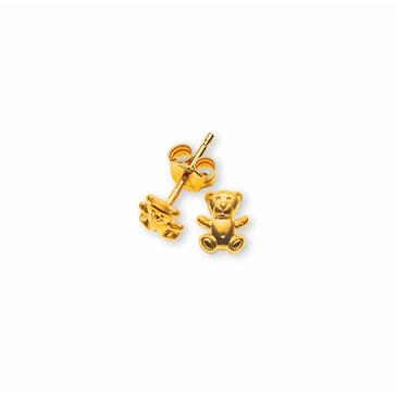 Ohrstecker 750/18 K Gelbgold, Teddybär