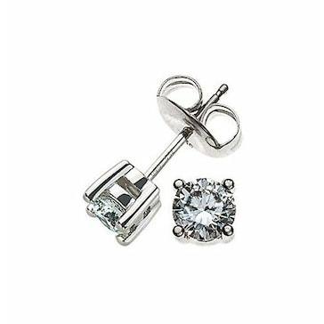 Ohrstecker 750/18 K Weissgold mit Diamant 0.50ct H/Si OSO2006