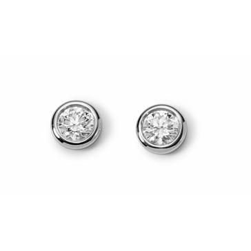 Ohrstecker 750/18 K Weissgold mit Diamanten 0.10ct W/Si 1260.06788/0001