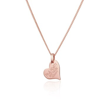 Paul Hewitt 925 Silver North Love Necklace 18K Plated Rose Gold