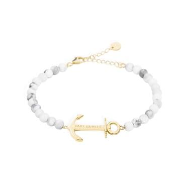 Paul Hewitt Bracelet Anchor Spirit Marble IP Gold
