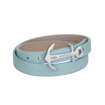 Paul Hewitt North Bound Silver Wrap Bracelet Leather Niagara