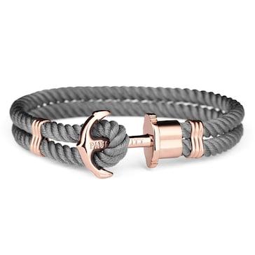 Paul Hewitt Phrep IP Rose Anchor Bracelet Nylon Grey