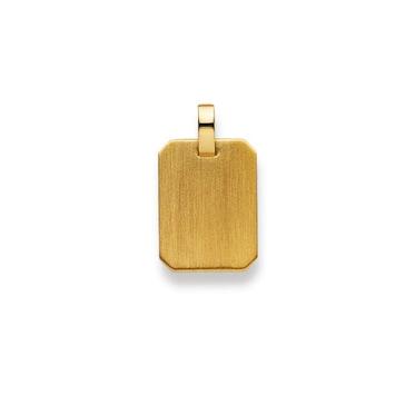 Plakette 750/18 K Gelbgold 16x12mm 1155.06206/0002