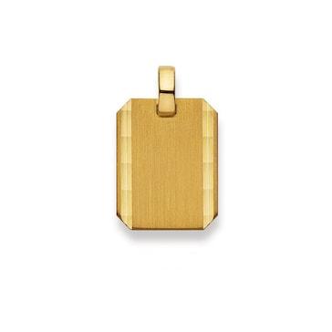 Plakette 750/18 K Gelbgold 20x15mm