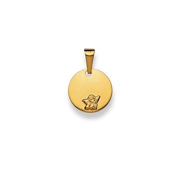 Plakette 750/18 K Gelbgold, Engel 1158.02638/1200