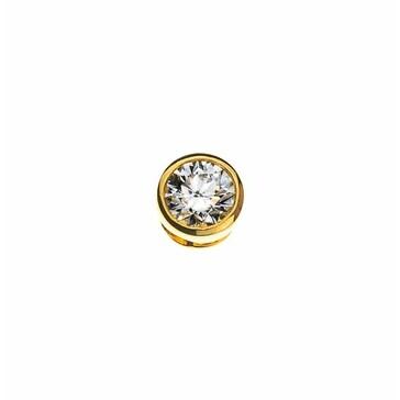 Solitär Anhänger 750/18 K Gelbgold mit Diamant 0.15ct. H/Si ASO1026