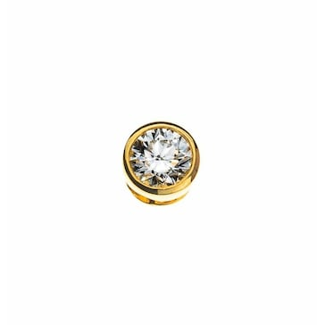 Solitär Anhänger 750/18 K Gelbgold mit Diamant 0.25ct. H/Si