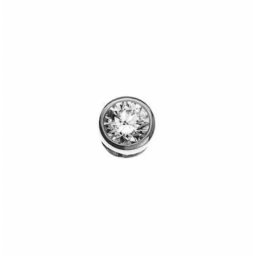 Solitär Anhänger 750/18 K Weissgold mit Diamant 0.15ct. H/Si