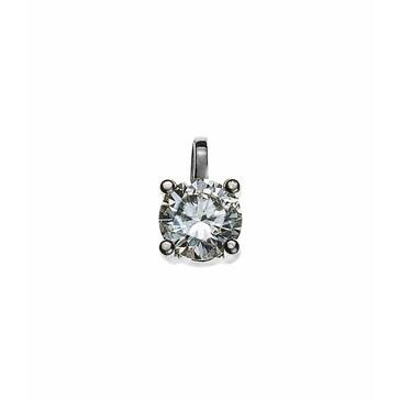 Solitär Anhänger 750/18 K Weissgold mit Diamant 0.50ct. H/Si