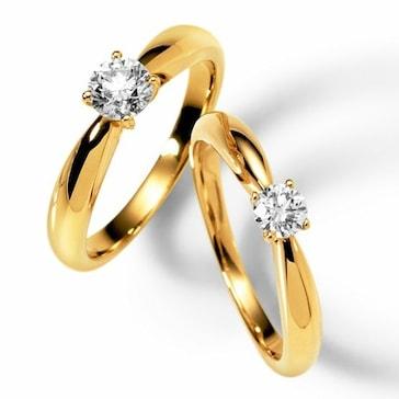 Solitärring 750/18 K Gelbgold mit Diamant 0.10ct W/Si 1110.07731