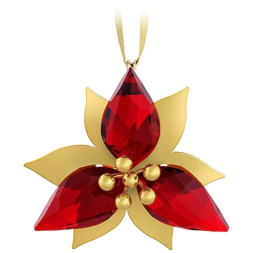 Swarovski Christstern Ornament, Goldfarben