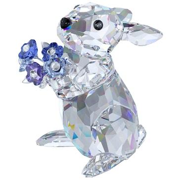 Swarovski Hase mit Vergissmeinnicht