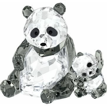 Swarovski Pandamutter mit Baby