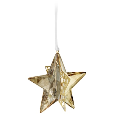 Swarovski Weihnachtsornament Stern, Golden Shadow