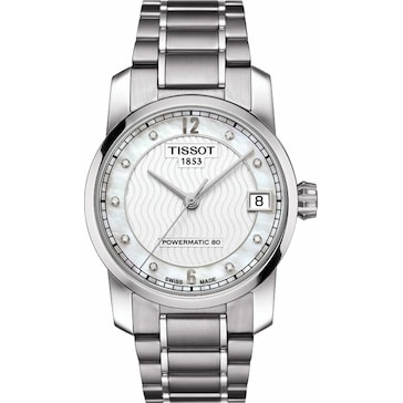 Tissot Titanium Automatic Powermatic 80 Lady Diamonds