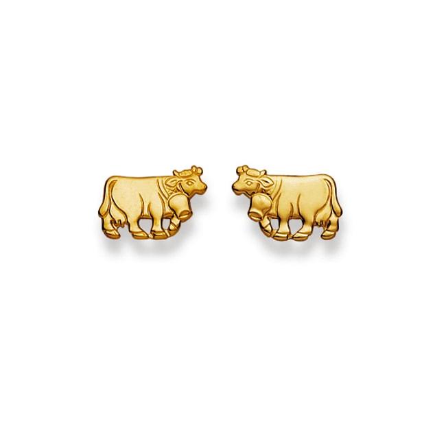 Spielraum komplettes Angebot an Artikeln offizieller Shop Ohrstecker 750/18 K Gelbgold, Kuh online kaufen bei CHRISTIAN