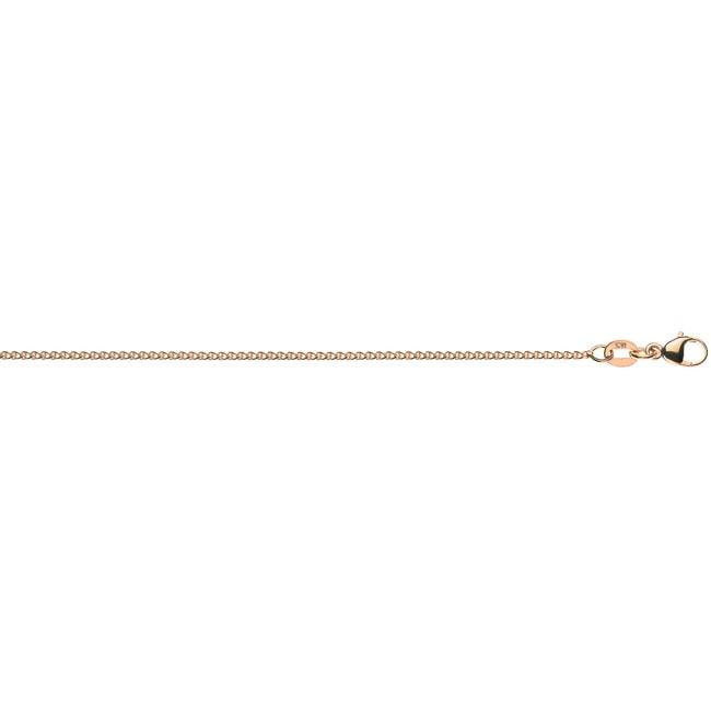 1,1mm Rund-Ankerkette 750 Gold Gelbgold Kette Collier Halskette 38cm Goldkette