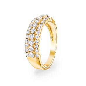 0.76 Karat Diamantring 750/18 K Gelbgold