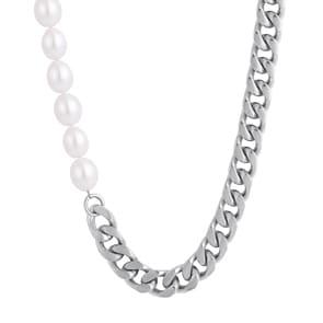 10mm Cuban Link Perlenkette silbrig