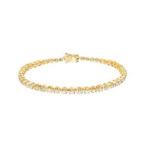 2.02 carats diamants bracelet rivière 750/18 K or jaune