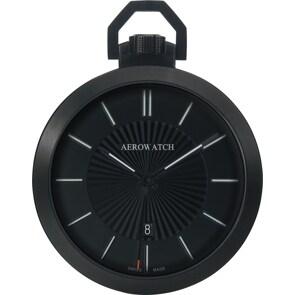 Aerowatch Taschenuhr Lépine Quartz Schwarz Ø 48mm