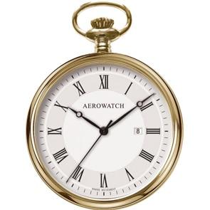 Aerowatch Taschenuhr Lépine Quartz Goldig