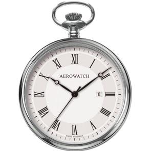 Aerowatch Taschenuhr Lépine Quartz Silbrig