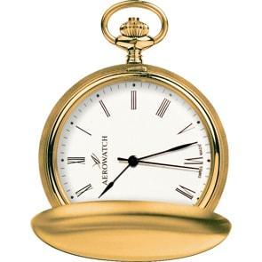Aerowatch Taschenuhr Savonette Quartz Goldig Ø 41mm