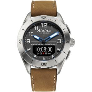 Alpina AlpinerX Alive Smartwatch Titanium Edition Grau