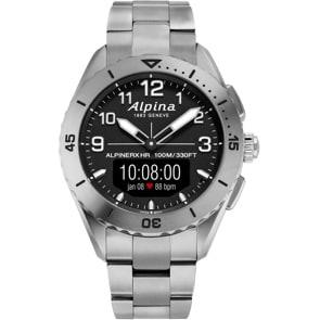 Alpina AlpinerX Alive Smartwatch Titanium Edition Schwarz