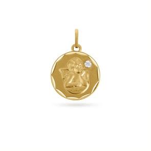 Anhänger 750/18 K Gelbgold mit Diamant, Engel