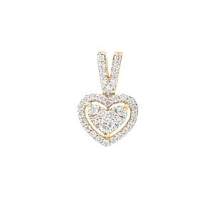 Anhänger 750/18 K Gelbgold mit Diamanten 0.21 ct H/si, Herz
