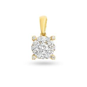 Anhänger 750/18 K Gelbgold mit Diamanten 0.33 ct H/si