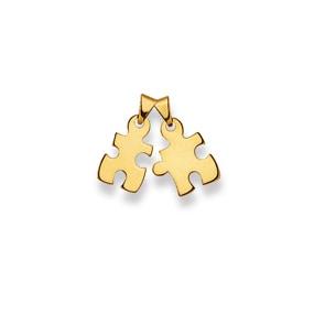 Anhänger 750/18 K Gelbgold, Puzzle