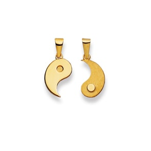 Anhänger 750/18 K Gelbgold, Yin Yang