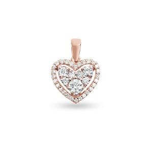 Anhänger 750/18 K Roségold mit Diamanten 0.51 ct H/si, Herz