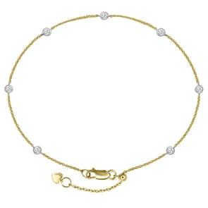 Armband 750/18 K Gelbgold mit Diamanten 0.20 ct H/si