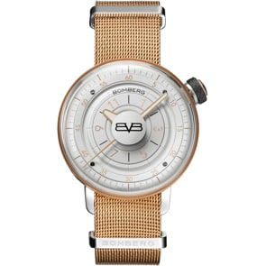 Bomberg BB-01 White & Gold Lady
