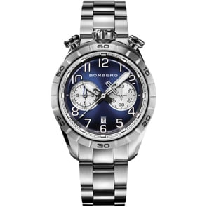 Bomberg BB-68 Dark Blue & Silver Chronograph