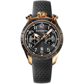 Bomberg BB-68 Gold & Black Chronograph