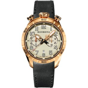 Bomberg BB-68 Gold Grey Chronograph