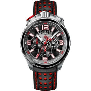 Bomberg Bolt-68 Black & Red Sapphire Chronograph